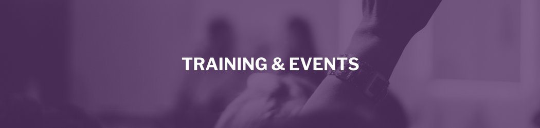 Training and Events Header