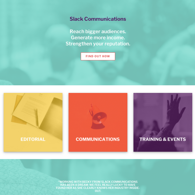 Slack Communications new strategy and website